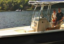 Danielle Won a Custom Carver Boat Cover For Her 2012 Edgewater 240IS!