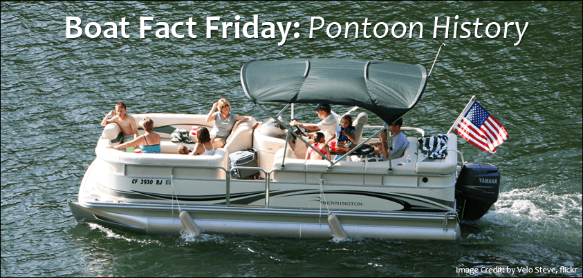 family having a good time on a pontoon