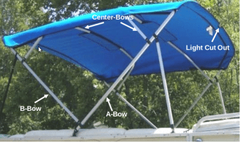 bright blue replacement canvas for bimini top