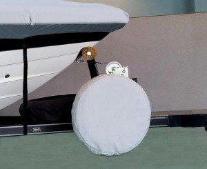 boat trailer spare tire cover