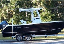 Steve's T-Top Boat Cover on his Sea Hunt