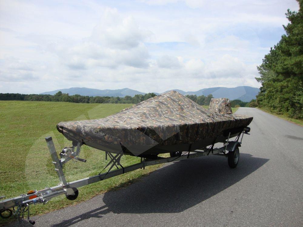 camo boat cover on trailer