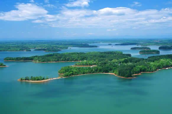 Lake Hartwell on the Georgia and South Carolina line