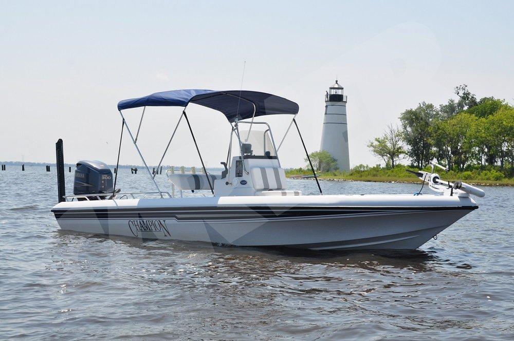 boat with bimini