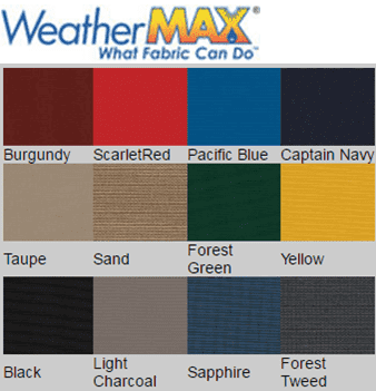weathermax fabric swatches